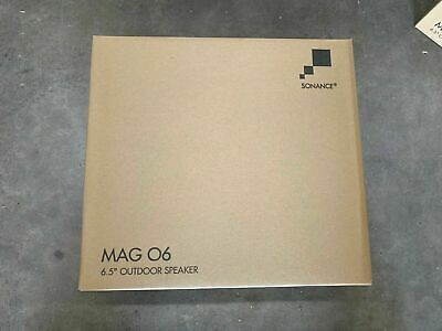 """Brand New PAIR of SONANCE MAG O6 Outdoor Speakers 6.5"""" 2-Way White MAG06 Sonos"""