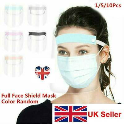 Full Face Shield Clear Flip Up Visor Oil Fume Protection Safety Work Guards UK'