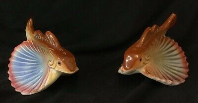 Retro Flying Fish Salt and Pepper Figurines