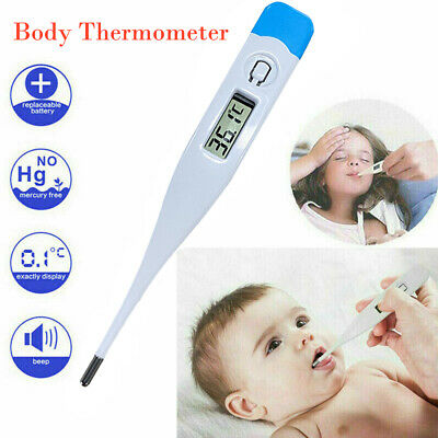Digital Thermometer LCD Display Medical Oral Ear Underarm Audible Fever Alarm