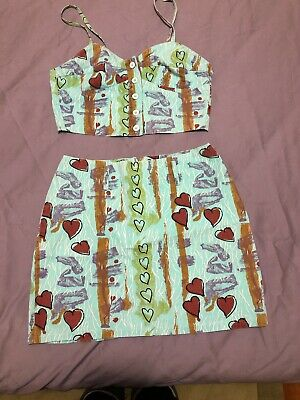 Vintage 2 Piece Summer Outfit - Circa 1980's