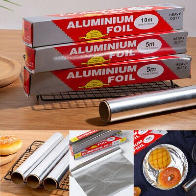 New Aluminum Kitchen Catering Foil Tin Food Oven Baking Wrap BBQ 300mmx10m