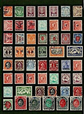 Germany DANZIG Stamp Collection MINT USED Ref:QS90a