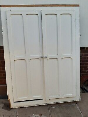 Antique painted pine alcove cupboard/wardrobe ready for renovation and assembly