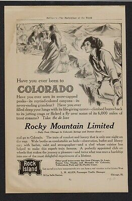 Vintage magazine ad Rock Island Railroad 1910 by Rose O Neill Colorado Featured