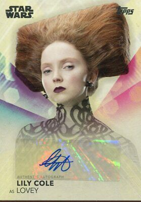 Topps 2020 The Women Of Star Wars Autograph Lily Cole