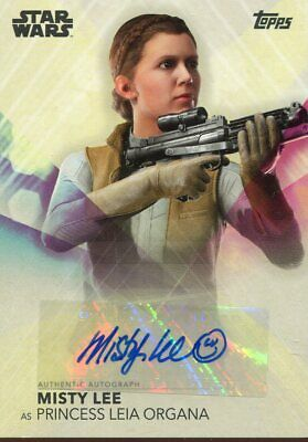 Topps 2020 The Women Of Star Wars Autograph Misty Lee