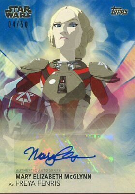 Topps 2020 The Women Of Star Wars Blue Parallel Autograph Mary E. McGlynn #50
