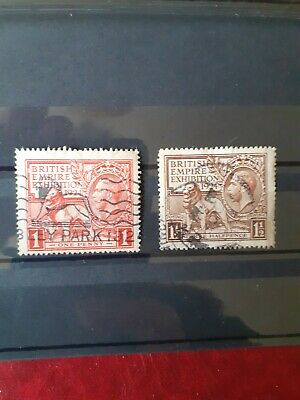 Gb Kgv British Empire Exhibition Stamps Used 1924 Nice Cancellation