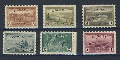 6x Canada Stamps Peace Issue set # 268 to 273 MH Some w GD Guide Value = $85.00