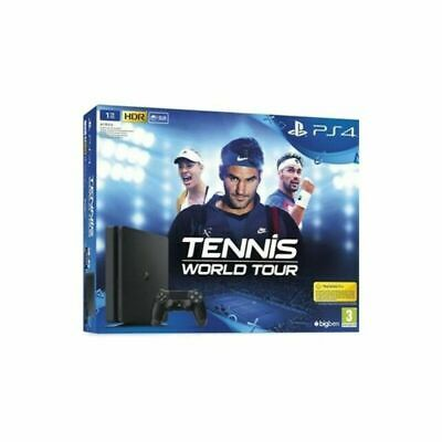 SONY PLAYSTATION 4 PS4 Console 1TB F CHASSIS SLIM HDR + Tennis world tour