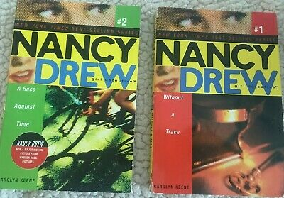 NANCY DREW Girl Detective Set of 2 Without a Trace A Race Against Time Books Lot