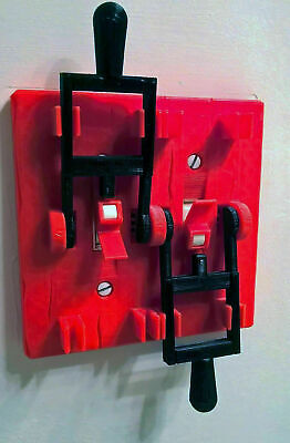 RED Frankenstein Dual Light Switch Plate Cover Flip Handle Toggle 2 Gang