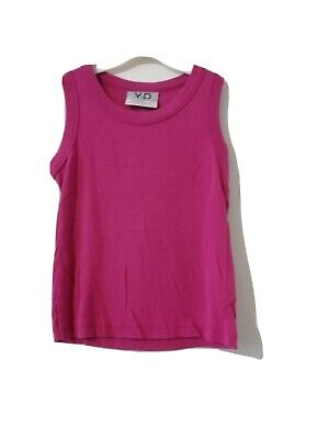 Primark Girls Pink Sleeveless Vest Top Age 9-10 Years