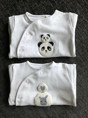 NEXT Babygrows - Set Of 2 - Unisex - Up To 1 Months - Mummy And Daddy - White