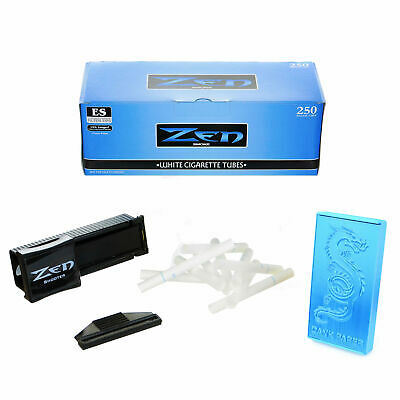 250 Zen Light King Size Cigarette Tubes with Shooter/Injector and Dragon Ciga...