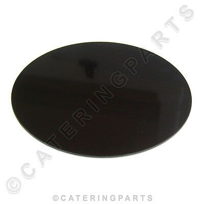 CERAMIC ELEMENT COVER PLATE 237mm ROUND HEATING RING BLACK GLASS HEATED DISPLAY