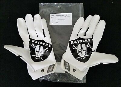 #89 Amari Cooper of Oakland Raiders NFL Locker Room Game Issued Gloves (2XL)