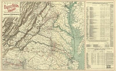 1902 map showing the location of battle fields of Virginia : compiled from offic