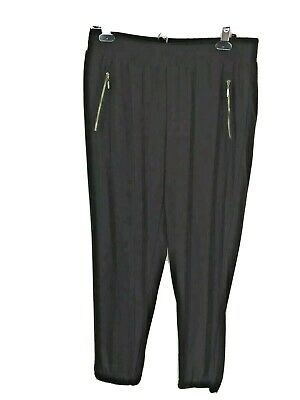 Chicos 1 Womens Pants Knit Kit Ankle Joggers Cocoa Bean Brown Pull-on M/8