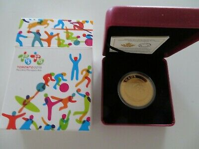 50-Cent Gold Plated Coin TORONTO 2015 PAN AM-with box and certificate-mint