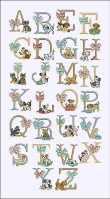 A Doggy Alphabet cross stitch chart