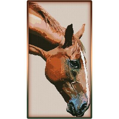Horse Head Cross Stitch Chart
