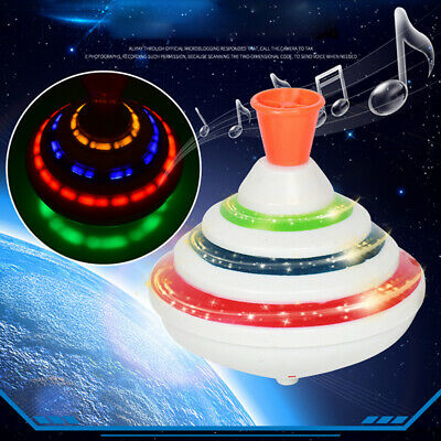 LED Spinning Top Magnetic Gyro Wheel Track Toy Bauble Colorful Shine Kids Gif bu