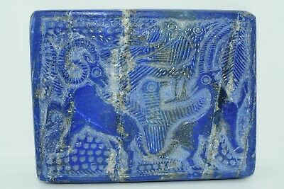 A very Lovely beautiful Near Eastern Lapis Lazuli Square tablet/plate