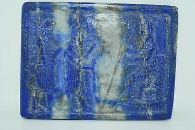 A very Lovely beautiful Near Eastern Lapis Lazuli Square tablet/plate Rare