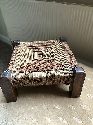Vintage Sea Grass/Woven Topped Stool
