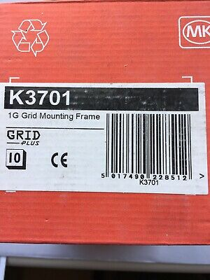 Mk K3701 1Gang Grid Mounting Frame Box Of 10