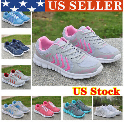 US Women Running Outdoor Tennis Sneakers Sports Casual Walking Shoes Lightweight