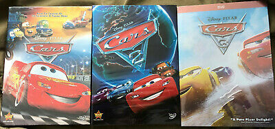 Cars 1-3 Trilogy Disney  Pixar Movie Bundle DVD New & Sealed Free Shipping