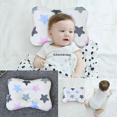 Newborn Anti Flat Head Neck-Support Crib Cot Bed Syndrome Baby Infant Pillow UK