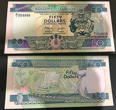 1986 Solomon Islands $50 Fifty Dollar Bank note - P17a - UNC.