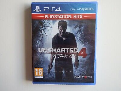 Uncharted 4: A Thief's End on PS4 in NEW & FACTORY SEALED Condition