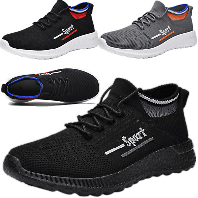 Trainers Flyknit Mens Mesh Running Sports Walking Running Sock Shoes Lightweight