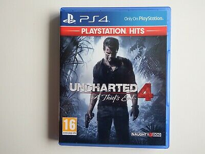 Uncharted 4: A Thief's End on PS4 in MINT Condition