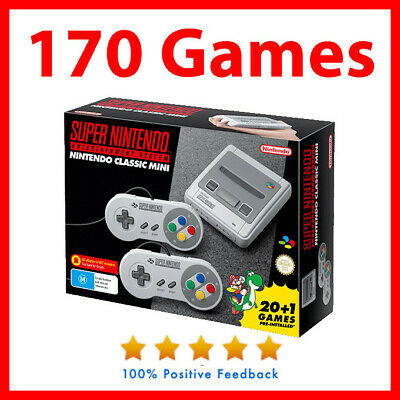 Brand New Genuine Super Nintendo SNES classic mini Console With 170 games
