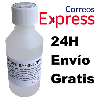 Alcohol Isopropilico IPA / Isopropanol Liquido Desinfectante Virus 100ML