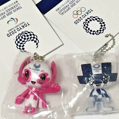 Tokyo Olympic Paralympic 2020 100% 2 Official Key chain, Charm, Strap Set Japan