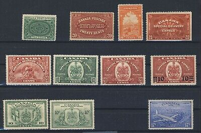 11x Canada Special Delivery Stamps E1 to E11 & CE4 Missing Only # E5 GV= $275.00