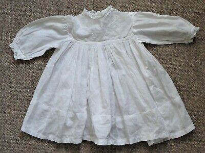 Antique/vintage (Victorian/Edwardian?) cotton lawn baby's dress