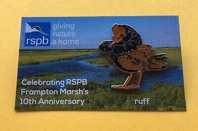 RSPB RUFF On Celebrating Frampton Marsh Special Picture Card Enamel Pin Badge