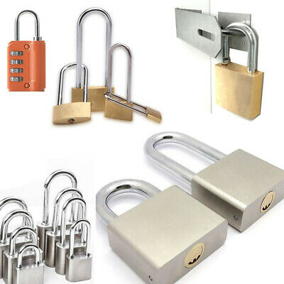 Safety Security Shackle Lock Heavy Duty Steel Padlock Small Large Outdoor Locks
