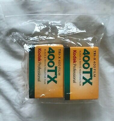 2- Pack Kodak Professional 400 TX Tri-X B&W Film  36 EXP 24 x 36mm exp. 12/2016