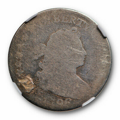 1796 Draped Bust Dime 10c NGC Fair Details Plugged Early US Type Coin
