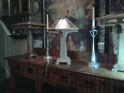 Arts And Crafts (Mission) Mica Table Lamp Light