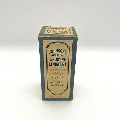 Johnson's American Anodyne Liniment in Original Box Glass Bottle
